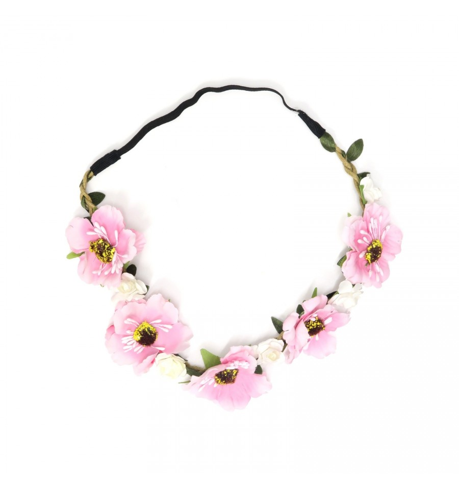 Pink flower garland bloomb singapore children clothing store pink flower garland mightylinksfo