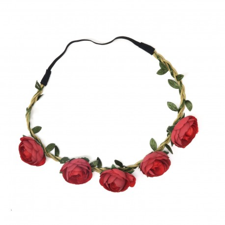 Red flower garland