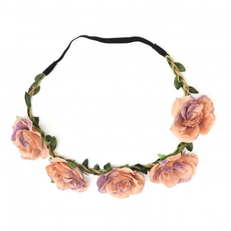 Peach Pink flower garland
