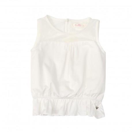 Coral Sleeveless Top (White)